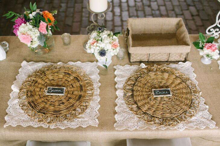 """Each table setting was unique with a table runner of crocheted lace or antique doilies I bought online from Spain or my mother-in-law bought while antiquing,"" Angela says. rn"