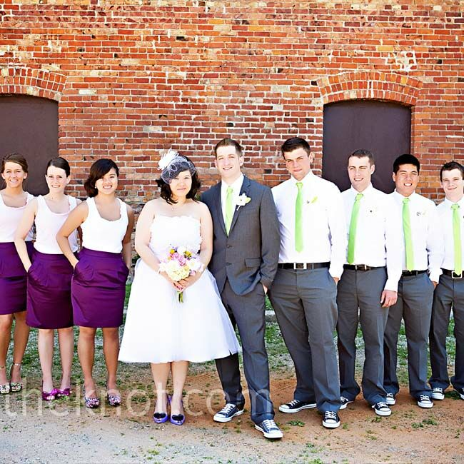 Purple And Green Wedding Party