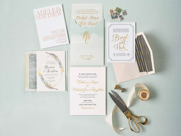 Invitations paper ideas advice fabulous gold foil wedding invitations stopboris