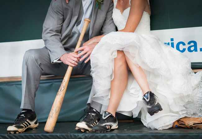 Baseball Cleats | Artful Weddings | Blog.theknot.com