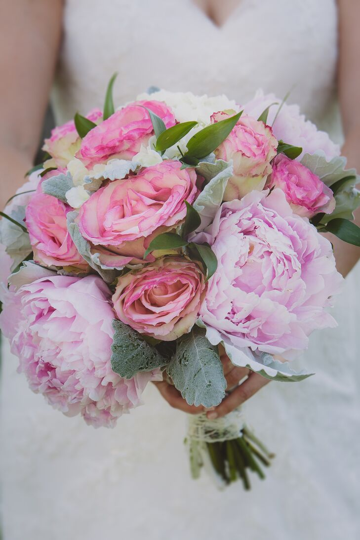 peony roses wedding bouquet pink peony and bridal bouquet 6449