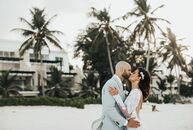With 70 friends and family members in tow, Angelica (26 and a paralegal) and John DiMeglio (28 and an electrician) headed to a tropical paradise for a