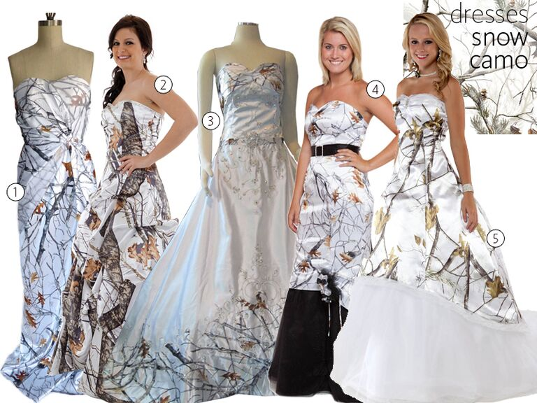 Camo wedding dresses pictures