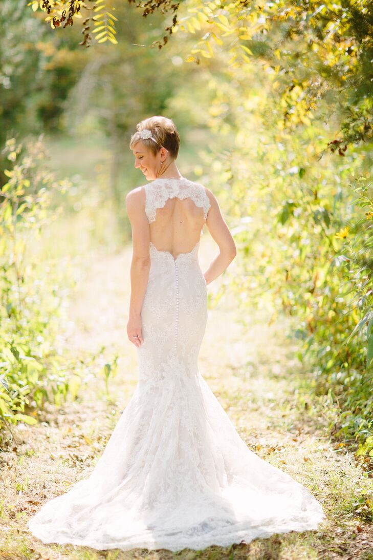 Marisa Bridals Lace Wedding Dress with Keyhole Back