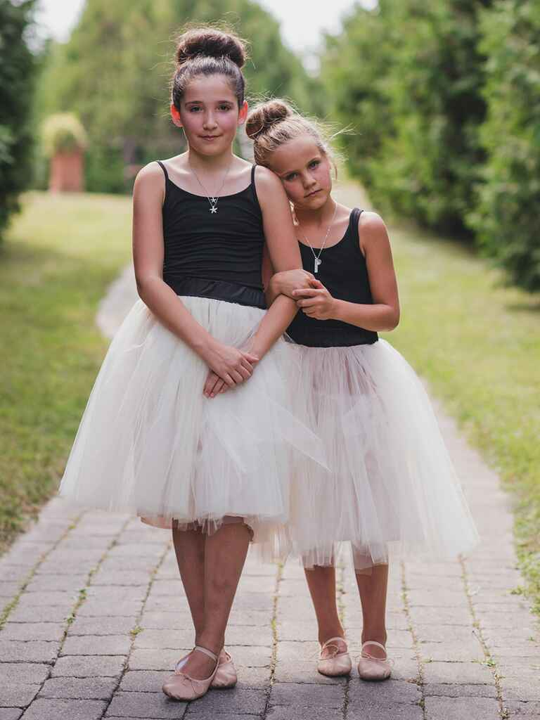 Simple bun hairstyle for flower girls