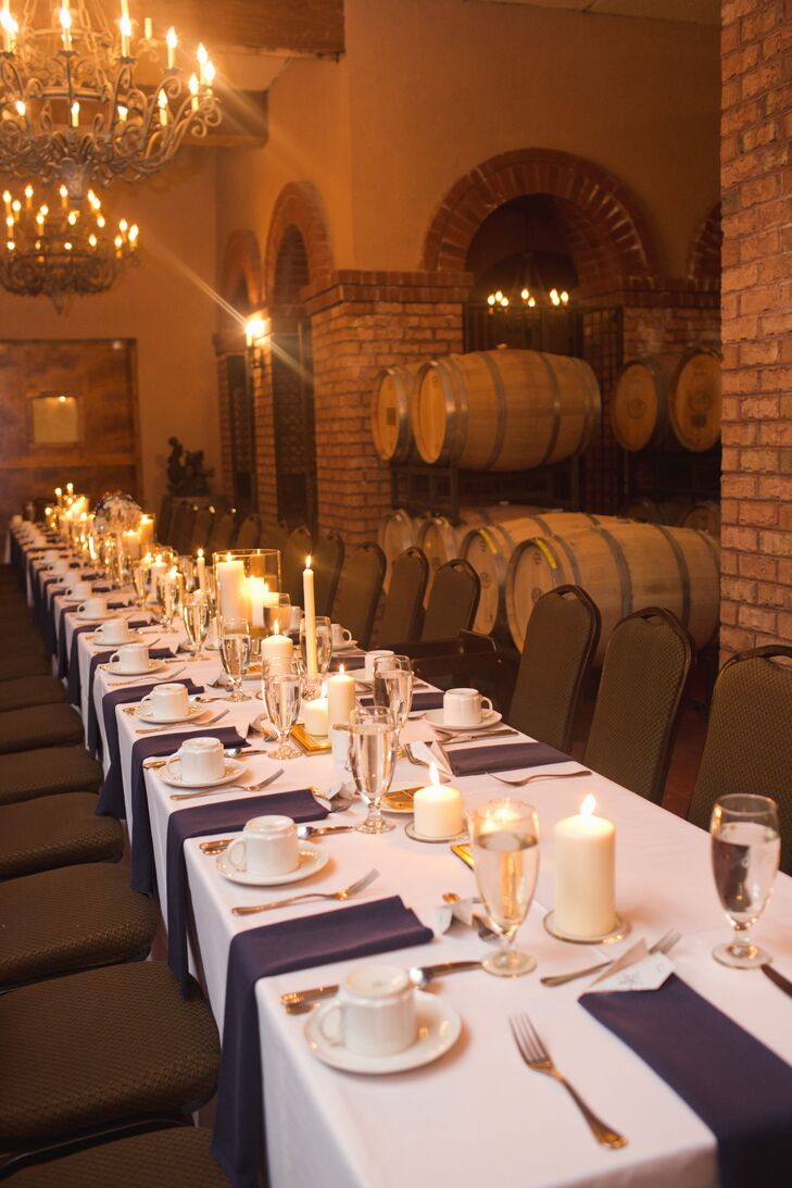 Potomac Point Winery Wedding | Barrel Room Reception At Potomac Point Winery