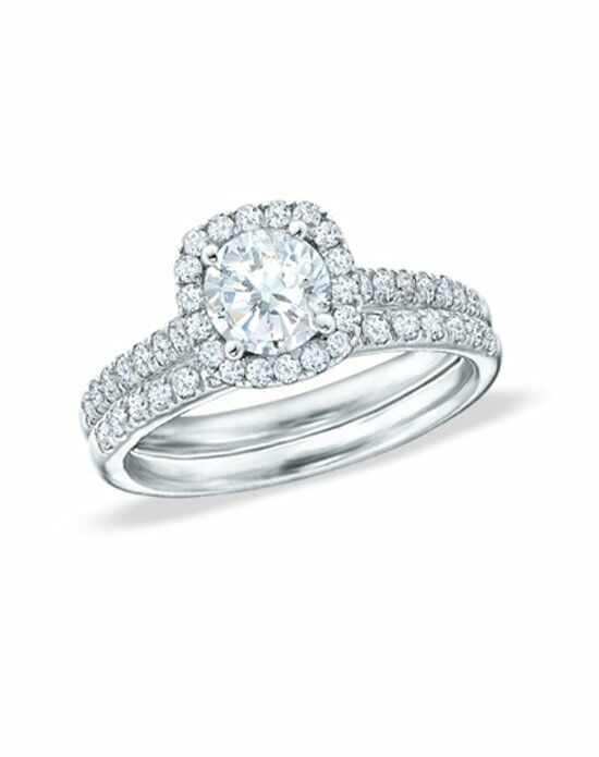 Zales 2 CT. T.W. Diamond Frame Bridal Set in 14K White Gold 18650770 Engagement Ring photo