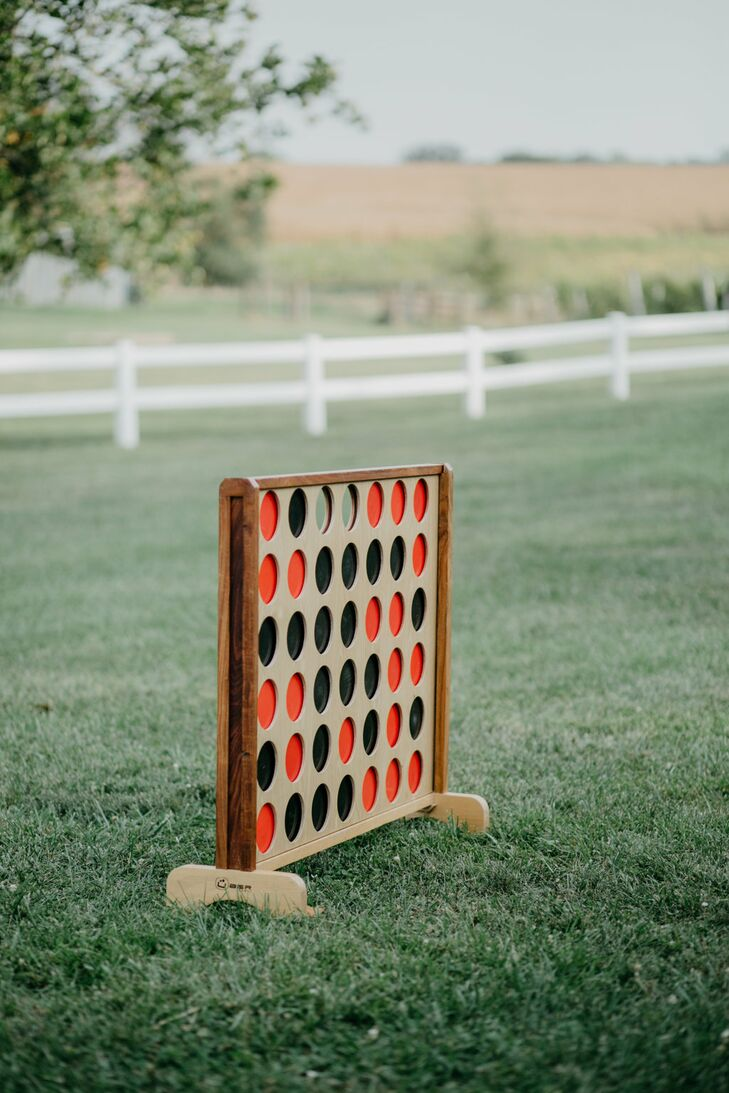 Giant Connect Four Lawn Game