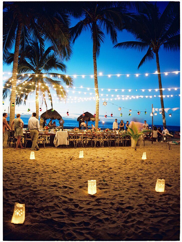 Wedding Reception Lighting Photography: A Beachfront Fiesta-Inspired Wedding At Las Casitas