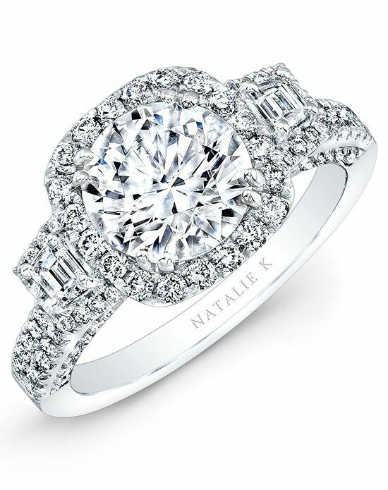 Natalie K Trois Diamants Collection - NK29595-18W Engagement Ring photo