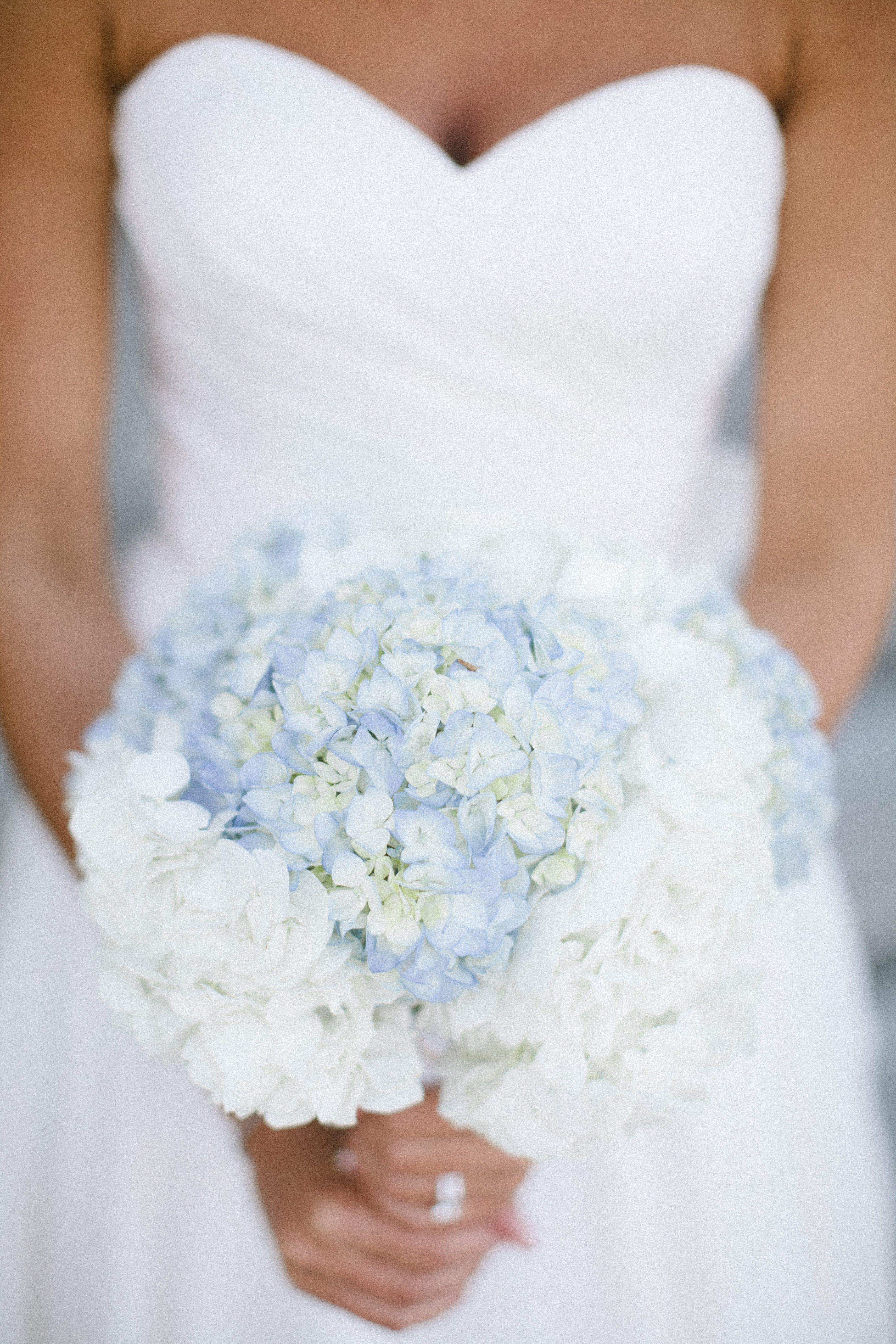Blue wedding bouquets blue and white hydrangea bridal bouquet izmirmasajfo Choice Image