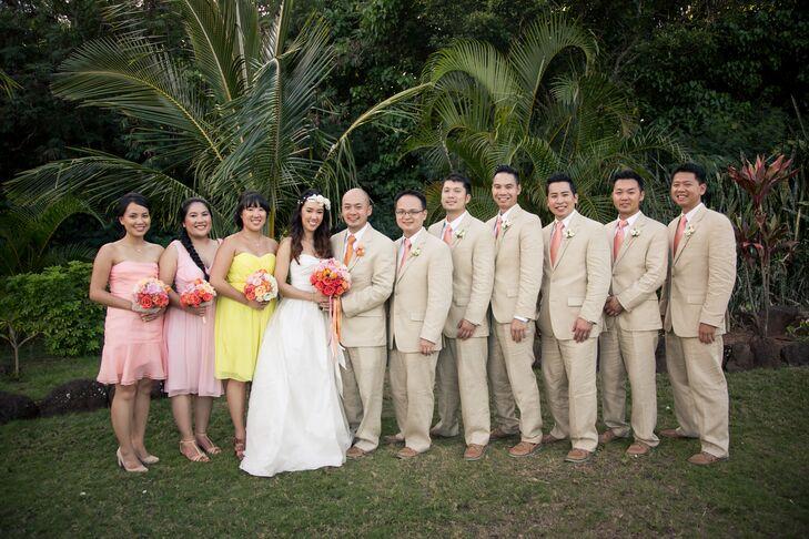 A Simple Destination Wedding At Loulu Palm Estate In Oahu