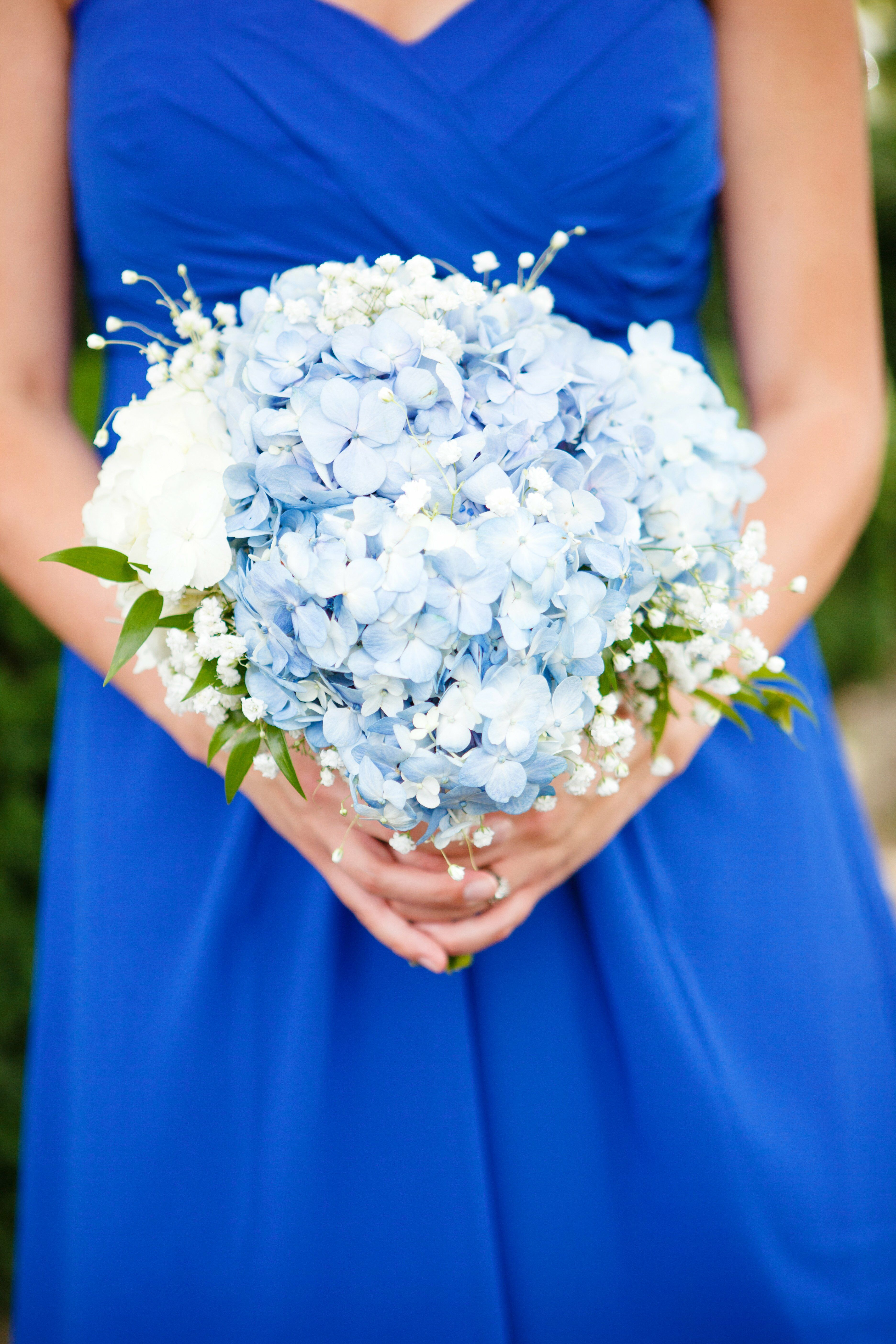 Blue wedding bouquets pale blue hydrangea bridesmaid bouquet junglespirit Images
