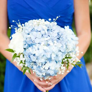 Real Blue Wedding Flowers