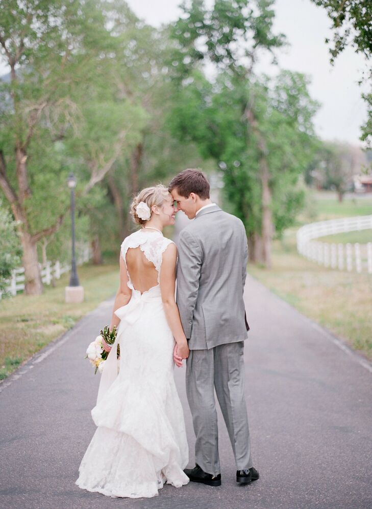 Lace Backless Wedding Gown