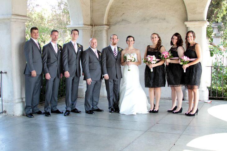 Gray and Black Wedding Party Attire