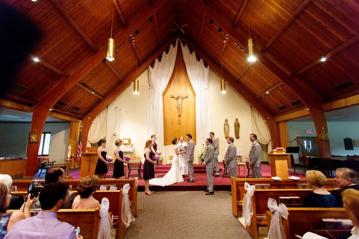 Sara and Jamie were married indoors at Our Lady of the Mountain Church in Long Valley, New Jersey.