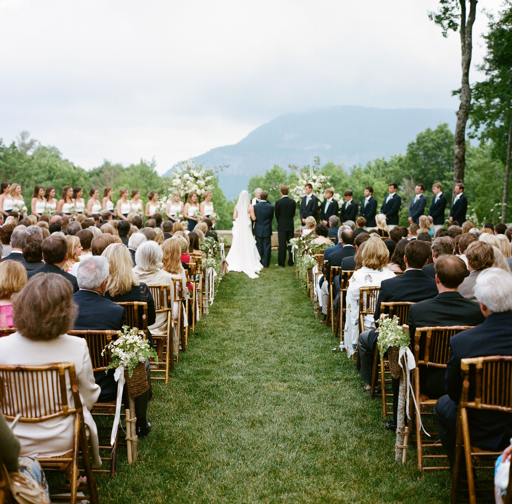 Mountain Wedding Ceremony: Whiteside Mountain Backyard Wedding Ceremony