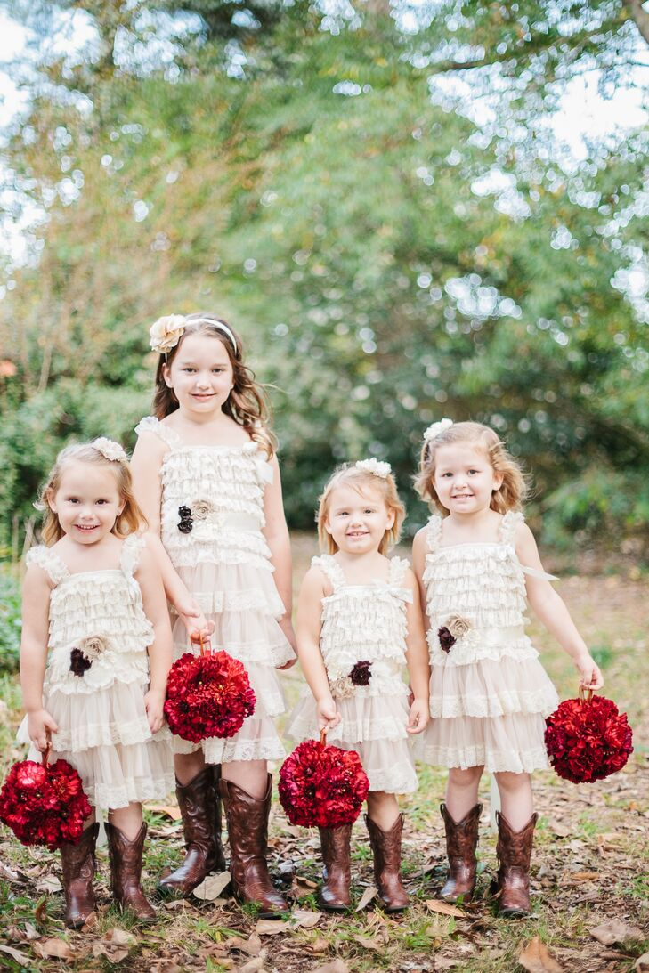 Flower Girl Dresses with Cowboy Boots