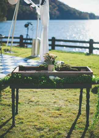 Wooden Escort Card Display | The Shultzes | The Knot Blog