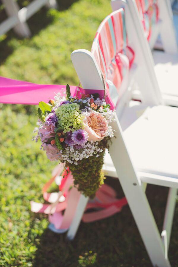 Pink Peach And Purple Flower Arrangements
