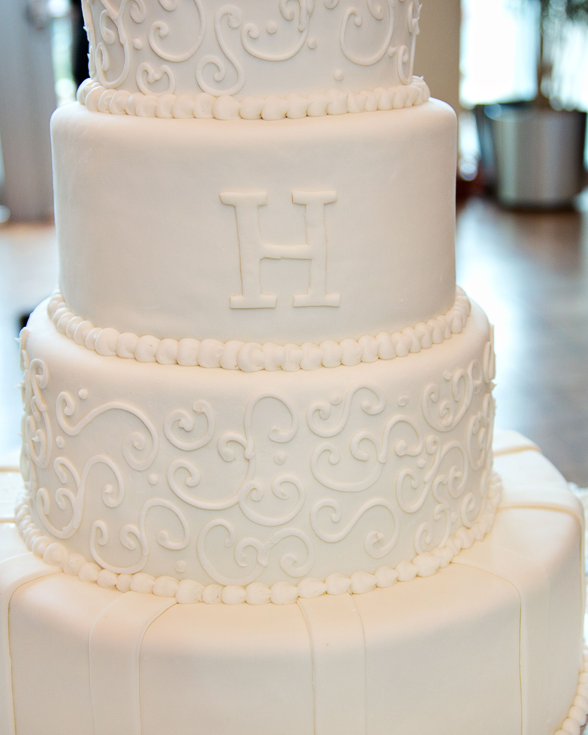 wedding cakes bloomington indiana simple white wedding cake with initial 23907