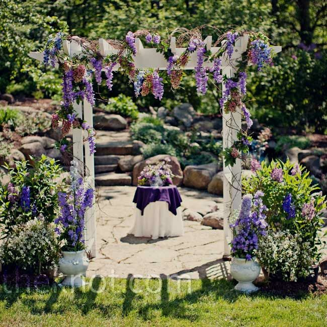 Rustic Outdoor Wedding Arches For Weddings: Wedding Ceremony Arbor