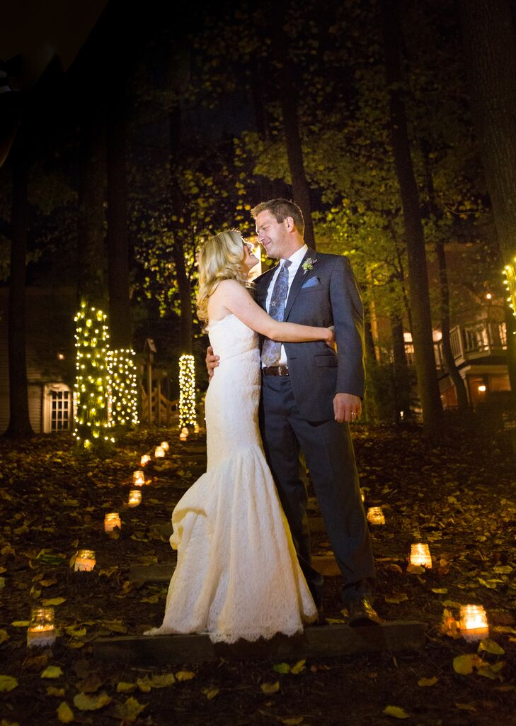 An intimate outdoor wedding at a private residence in for Wedding dresses harrisburg pa