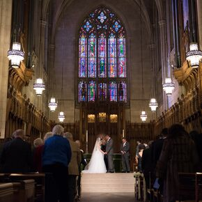 Wedding Ceremony At Duke University Chapel