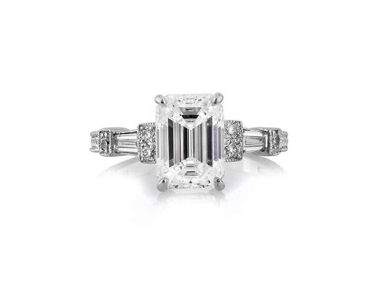 Mark Broumand Emerald Cut Engagement Ring