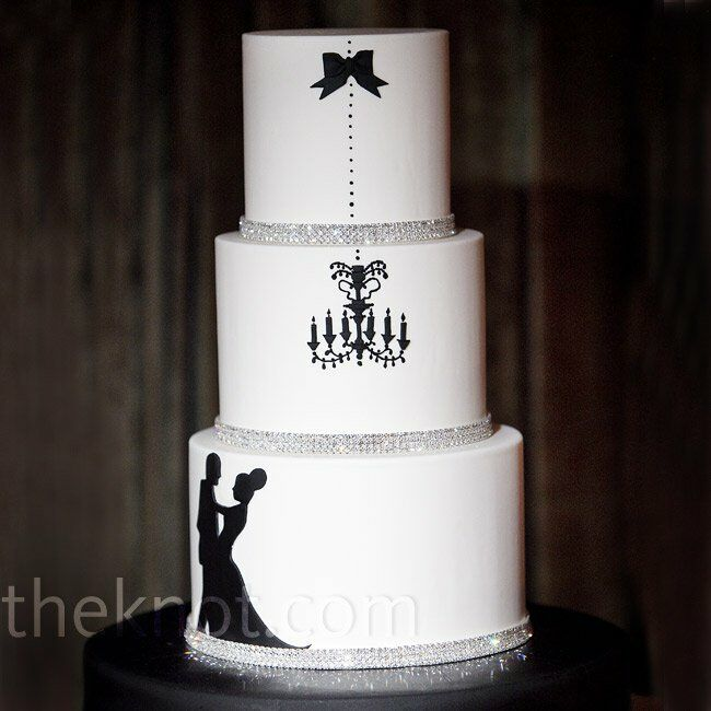 silhouette wedding cakes