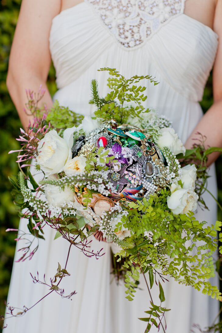Ethereal Woodsy Unruly Brooch Bouquet