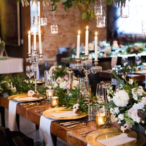 Gilded Chargers And Silver Candelabras