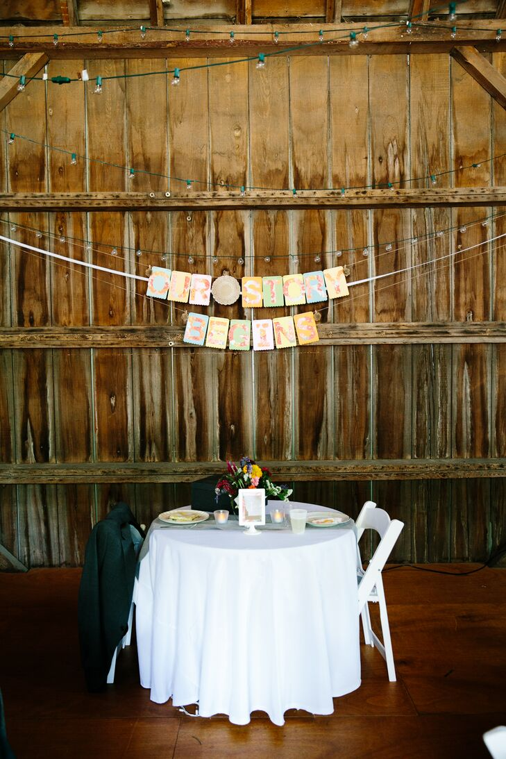 DIY 'Our Story Begins' Sweetheart Table Decor
