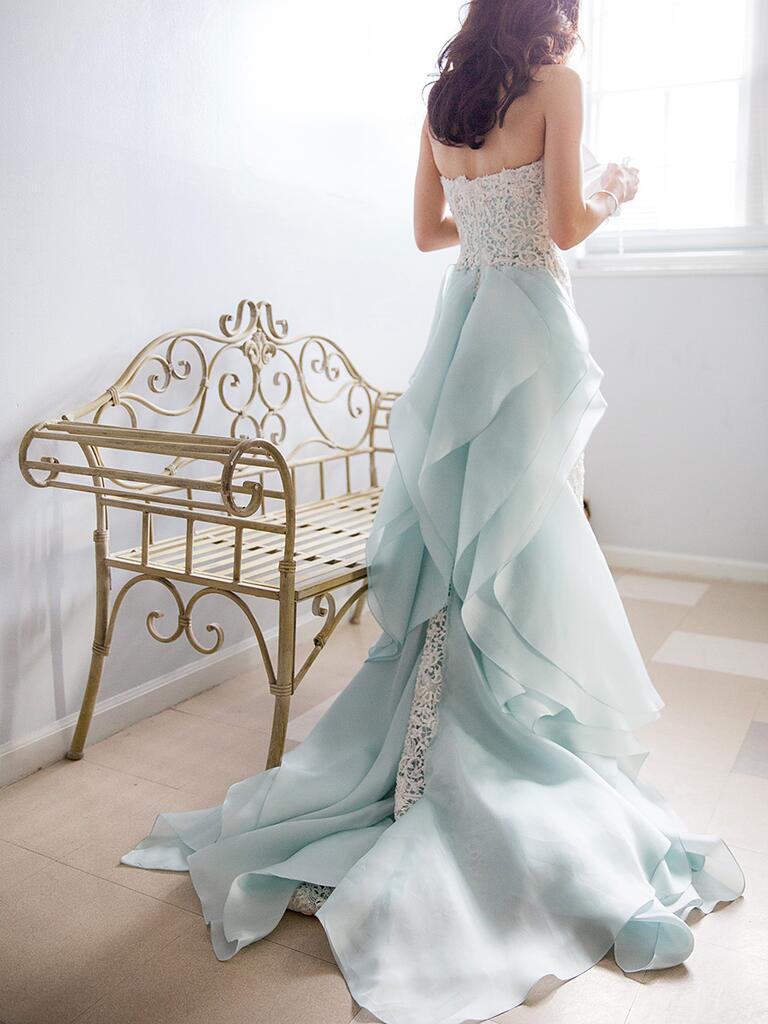 19 dreamy blue wedding gowns for Wedding dress in blue