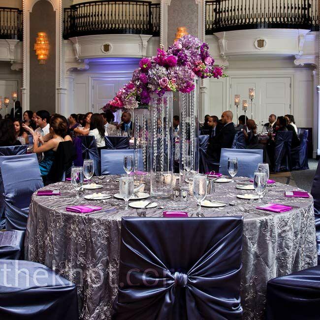 Silver Wedding Decorations: Silver And Purple Decor