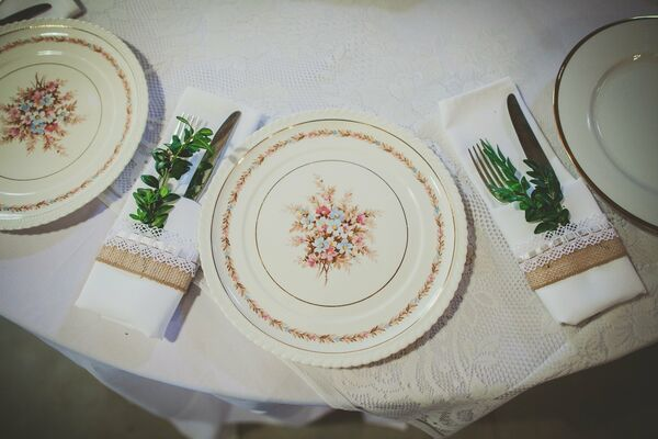 Floral China Place Setting