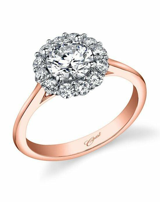 Coast Diamond Round Halo Engagement Ring-LC5205 Rose Gold Engagement Ring photo