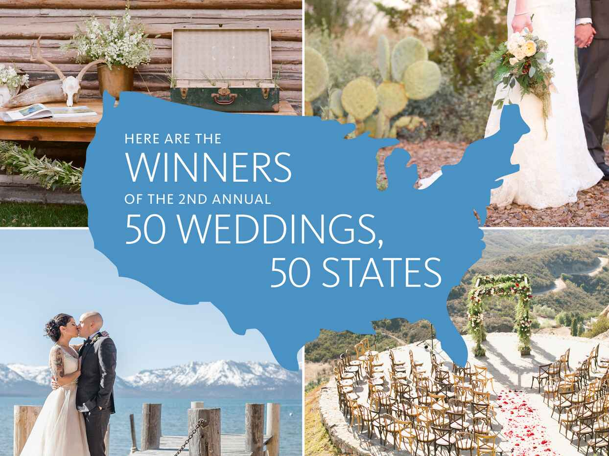 50 Weddings That Showcase Each State's Wedding Style