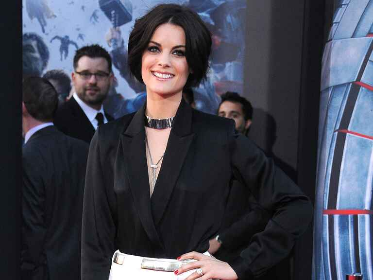 Jaimie Alexander poses at the Avengers: Age Of Ultron premiere on April 13, 2015