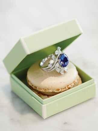 Sapphire and diamond cocktail ring from Trumpet and Horn