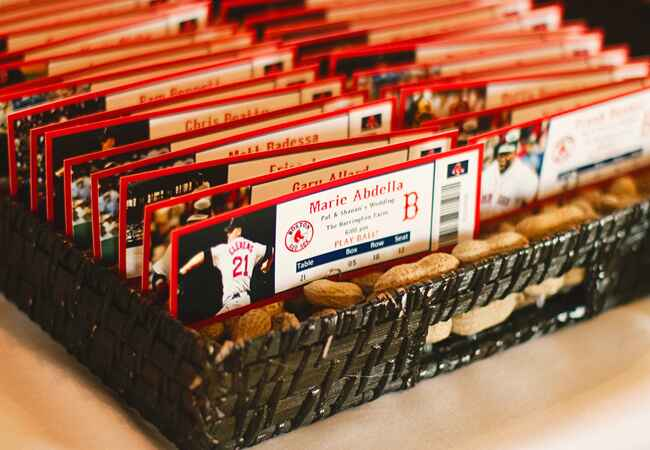Baseball Escort Cards | Angela Jean Photography | Blog.theknot.com
