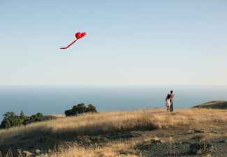 Heart-Shaped Kite Engagement Photo Props