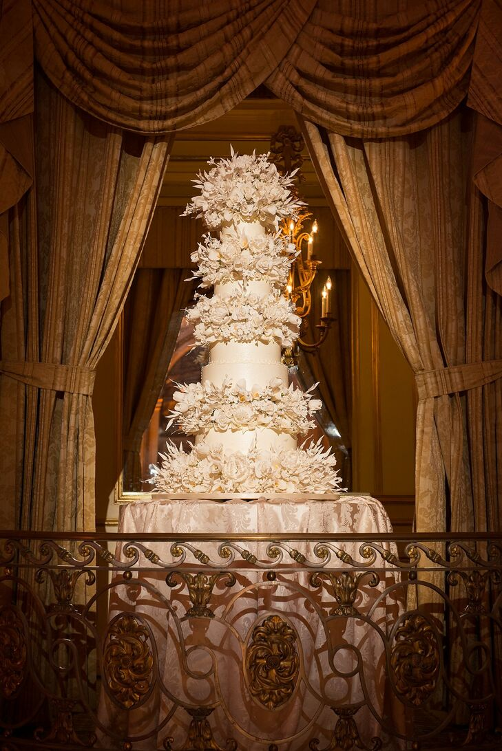 Lavish Five Tier Sylvia Weinstock Wedding Cake
