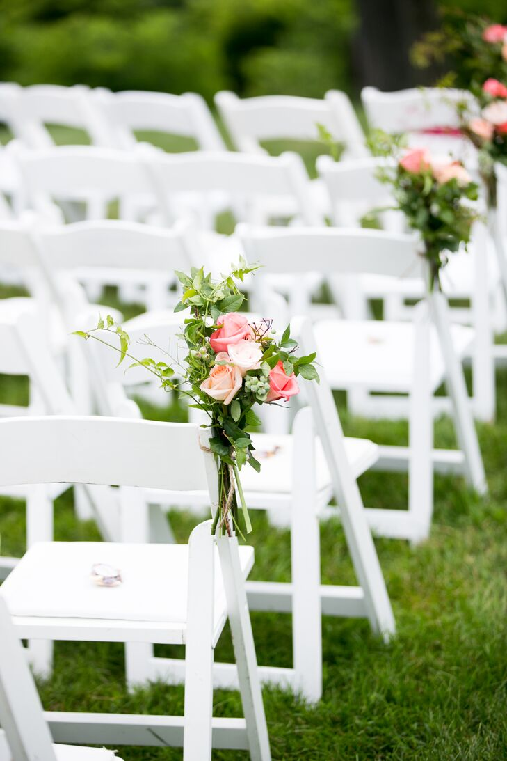 Secret Garden: Pink And Coral Rose Aisle Decorations