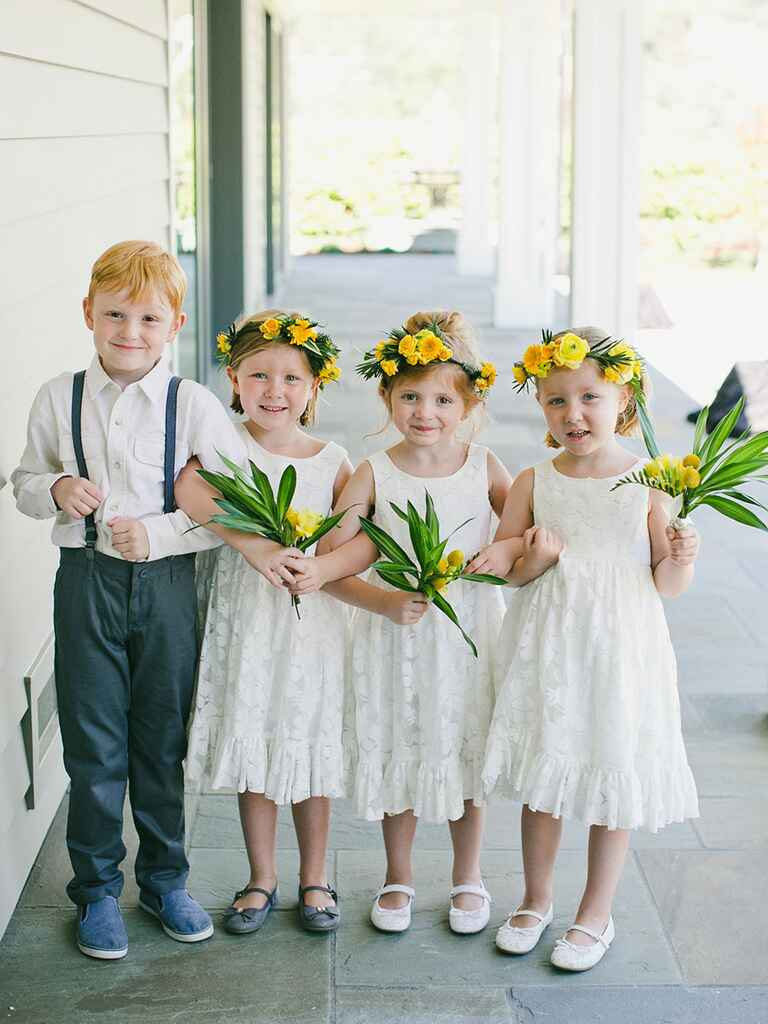 Cute stylish kids at wedding