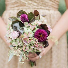 Fall wedding bouquets purple hydrangea and dahlia bouquet junglespirit Gallery