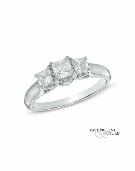 Zales 1 CT. T.W. Certified Princess-Cut Diamond Past Present Future® Engagement Ring in 14K White Gold (H-I/I1-I2) Engagement Ring photo