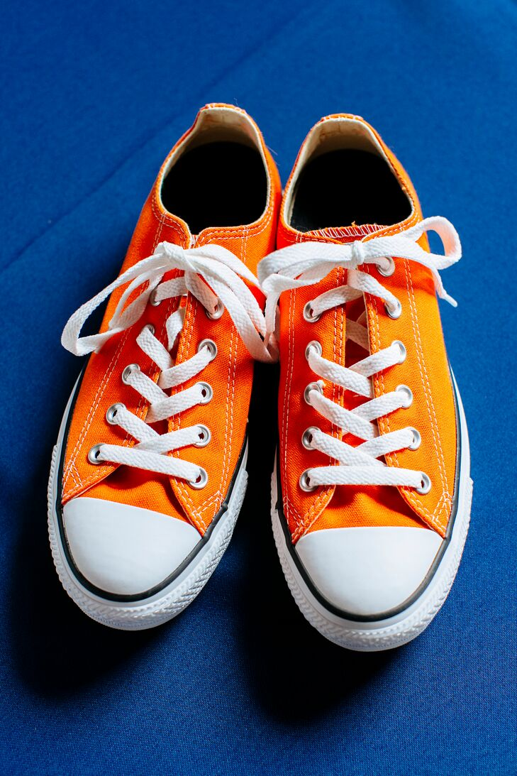 Orange Chuck Taylor Bridal Shoes