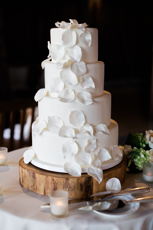 Sugar Aspen Leaf Decorated Fondant Cake